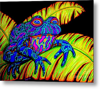 Tropical Frog Metal Print by Nick Gustafson