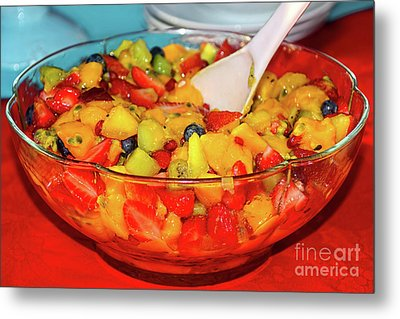 Tropical Fruit Salad By Kaye Menner Metal Print