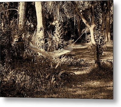 Tropical Hammock Metal Print by Susanne Van Hulst