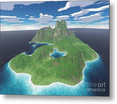 Tropical Island Metal Print by Gaspar Avila