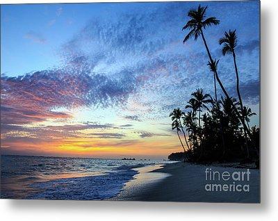 Tropical Island Sunrise Metal Print