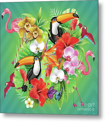 Tropical  Karnaval Metal Print by Mark Ashkenazi