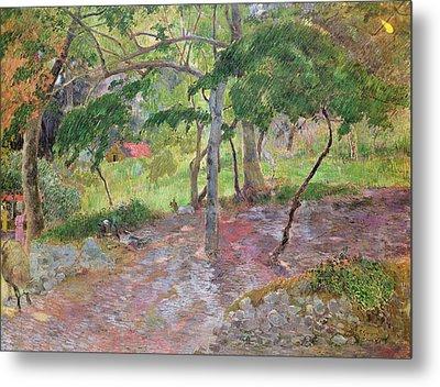 Tropical Landscape Metal Print by Paul Gauguin