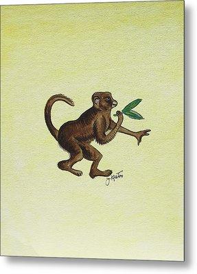 Tropical Monkey 2 Metal Print by John Keaton
