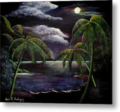 Tropical Moonlight Metal Print by Luis F Rodriguez