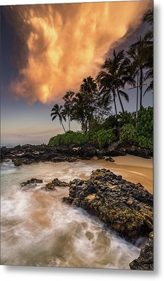 Metal Print featuring the photograph Tropical Nuclear Sunrise by Pierre Leclerc Photography