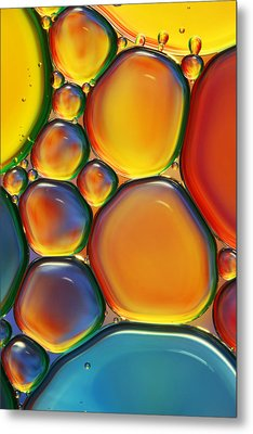 Tropical Oil And Water II Metal Print by Sharon Johnstone