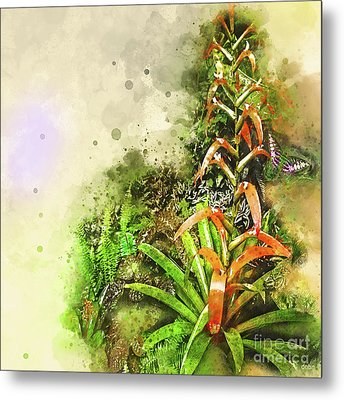 Tropical Orange Metal Print