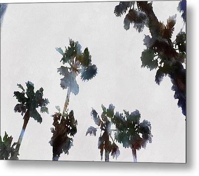 Tropical Palms Metal Print by Tracey Harrington-Simpson