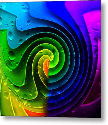 Metal Print featuring the photograph Tropical Rain by Kathy Kelly
