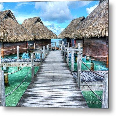 Tropical Resort Paradise Seascape Florida Keys 01 Metal Print