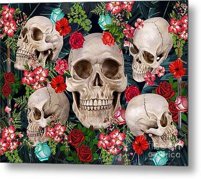 Tropical Skull  Metal Print