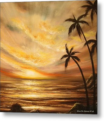 Tropical Sunset 64 Metal Print