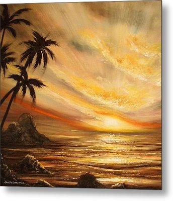 Tropical Sunset 65 Metal Print by Gina De Gorna