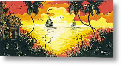 Tropical Sunset Metal Print by Herold Alvares