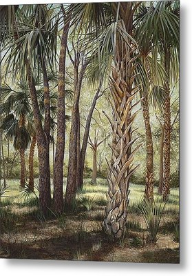 Tropical Trail's End Metal Print by AnnaJo Vahle