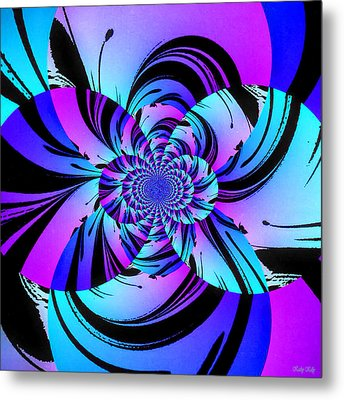 Metal Print featuring the digital art Tropical Transformation by Kathy Kelly