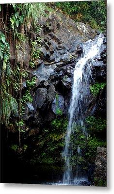 Tropical Waterfall Metal Print by Gary Wonning
