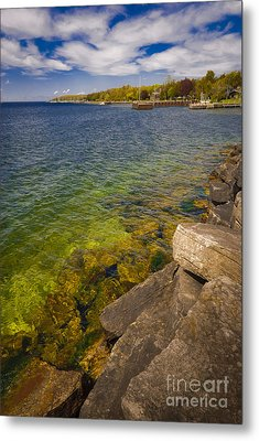 Tropical Waters Of Door County Wisconsin Metal Print