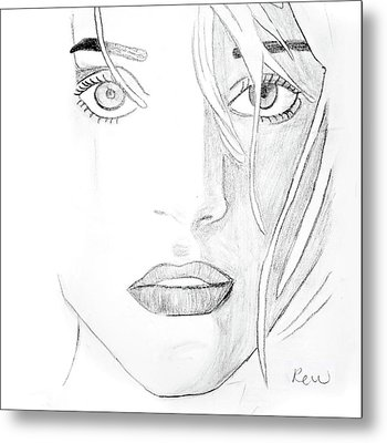 Troubled Eyes Metal Print by Rebecca Wood