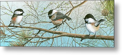 Troublesome Trio Metal Print