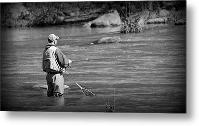 Trout Fishing 1 Metal Print by Todd Hostetter