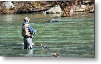 Trout Fishing Metal Print by Todd Hostetter