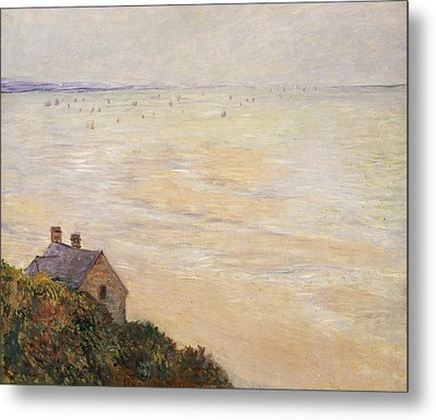 Trouville At Low Tide Metal Print by Claude Monet