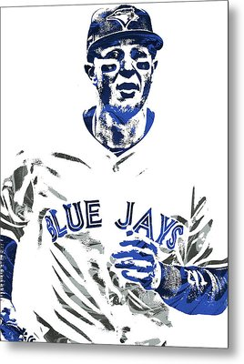 Troy Tulowitzki Toronto Blue Jays Pixel Art Metal Print by Joe Hamilton