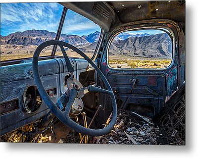 Truck Desert View Metal Print by Peter Tellone