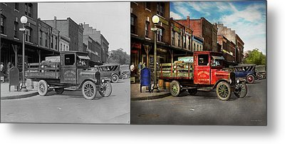Metal Print featuring the photograph Truck - Home Dressed Poultry 1926 - Side By Side by Mike Savad