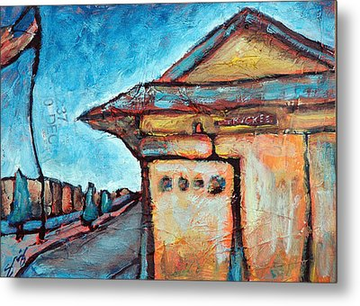 Truckee Train Depot Number 2 Metal Print by Sara Zimmerman