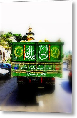 Trucking Across Lebanon Metal Print by Funkpix Photo Hunter