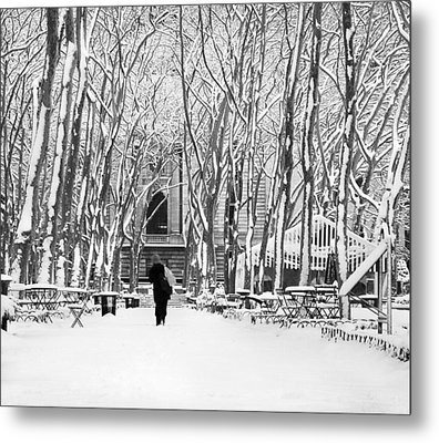 Trudging Through The Snow Metal Print by Andrew Kazmierski