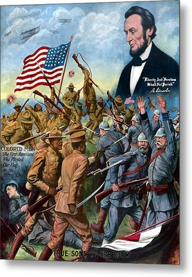 True Sons Of Freedom -- Ww1 Propaganda Metal Print by War Is Hell Store