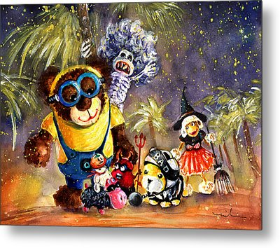 Truffle Mcfurry Halloween Party Metal Print by Miki De Goodaboom