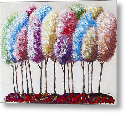 Metal Print featuring the painting Truffula Forest by Teresa Wing