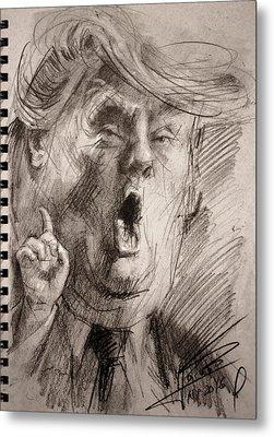 Trump A Dengerous A-hole Metal Print by Ylli Haruni