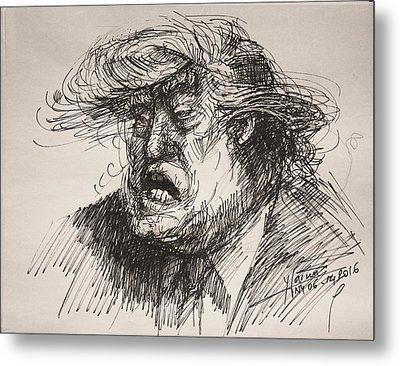 Trump Harmful Ignorant Metal Print by Ylli Haruni