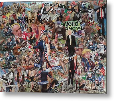 Trump Stirs Up The U.s. Elections Metal Print