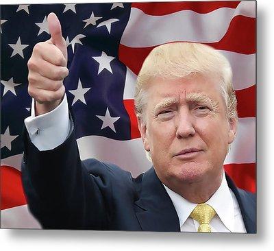 Trump Thumbs Up 2016 Metal Print by Daniel Hagerman