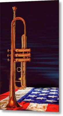 Trumpet-close Up Metal Print