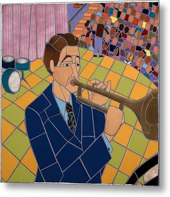 Trumpet Player Metal Print by Jonathan Mandell
