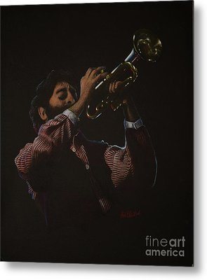 Trumpeteer Metal Print