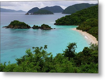 Metal Print featuring the photograph Trunk Bay At U.s. Virgin Islands National Park by Jetson Nguyen