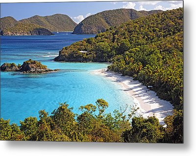 Trunk Bay St John Us Virgin Islands Metal Print by George Oze