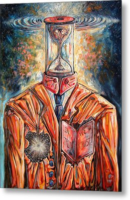 Truth Running Out Of Time Metal Print by Darwin Leon