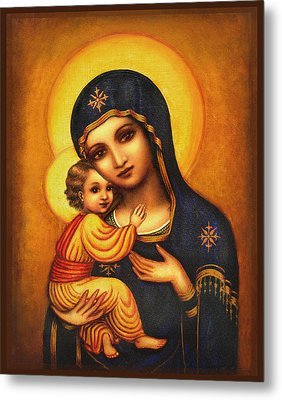 Tryptichon Madonna Metal Print by Ananda Vdovic