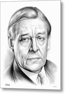 Ts Eliot Metal Print by Greg Joens