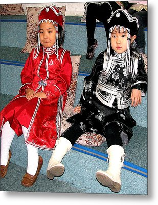 Tsagaan Sar Girls Metal Print by Diane Height